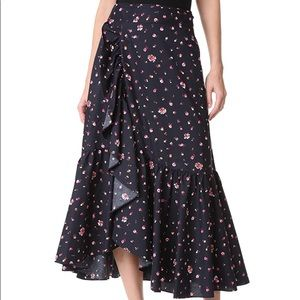 New Rebecca Taylor Mia Floral-Print Wrap Skirt - 2